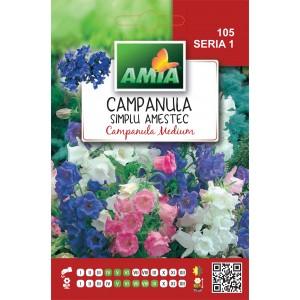 Seminte de flori campanula simplu amestec culori, 1 gram