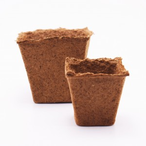 Ghivece biodegradabile, 8x8 patrate, 12 bucati/set