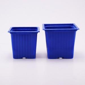 Ghivece Godet 8X8X7 TPP, culoare albastru inchis, 1 bucata